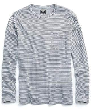 Todd Snyder Long Sleeve Striped Tee in Navy