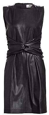 MSGM Women's Twist Waist Sleeveless Dress