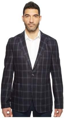 Kroon White Modern Fit Two-Button Traveler Blazer Men's Coat