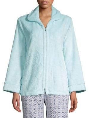 Miss Elaine Textured Long-Sleeve Jacket