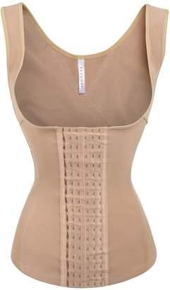 c56a886a1c5 Ekouaer Women s Mesh Steel Boned Waist Cincher Vest 6 Row Hooks Shapewear