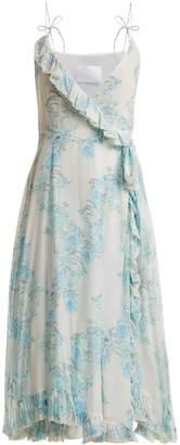 Athena PROCOPIOU Walking On A Dream floral-print silk wrap dress