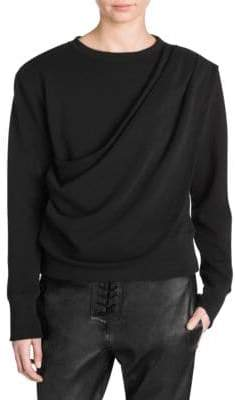 Taverniti So Ben Unravel Project Draped Terry Long Sleeve Tee