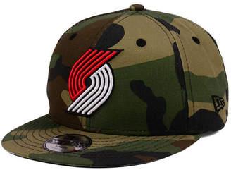 New Era Boys' Portland Trail Blazers Woodland Team 9FIFTY Snapback Cap
