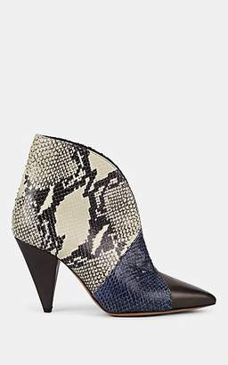 Isabel Marant Women's Archenn Leather Ankle Boots - Brown, Blue