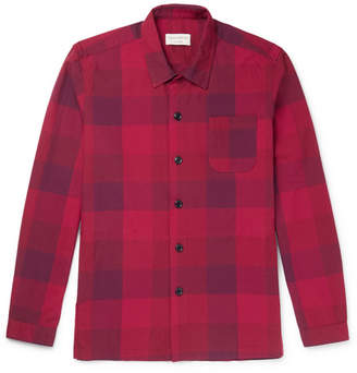 Oliver Spencer Loungewear Checked Cotton Pyjama Shirt