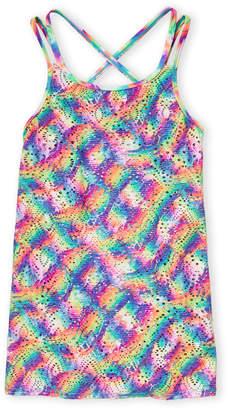 320926f4a6 Angel Beach Rainbow Dream Crochet Cover-Up Dress