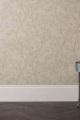 At Next Paste The Wall Metallic Sprig Wallpaper