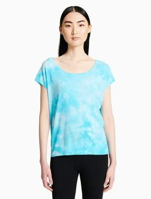 Calvin Klein tie-dye tie back t-shirt