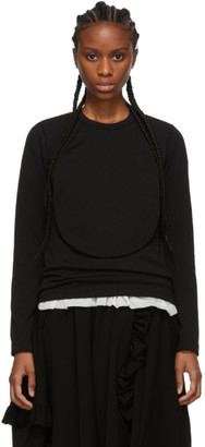 Comme des Garcons Black Circle Cut-Out Long Sleeve T-Shirt