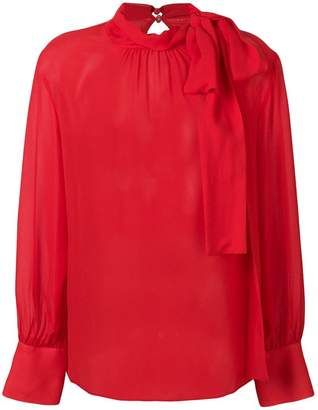 Federica Tosi semi-sheer long sleeve blouse