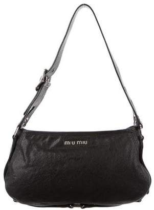 Miu Miu Grained Leather Shoulder Bag