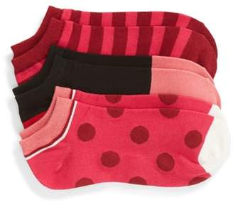 Kate Spade 3-Pack Stripe Dot No-Show Socks