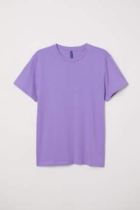 H&M Round-necked T-shirt - Purple