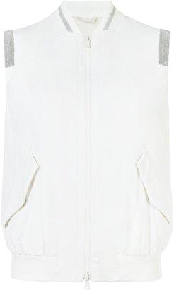 Brunello Cucinelli zipped vest $2,345 thestylecure.com