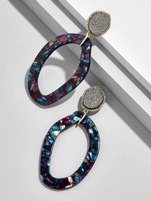 BaubleBar Tristana Hoop Resin Earrings
