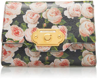 Dolce & Gabbana Welcome Mini Floral-Print Leather Bag