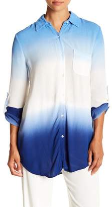Green Dragon Big Sur Dip Dyed Cover-Up Boyfriend Shirt
