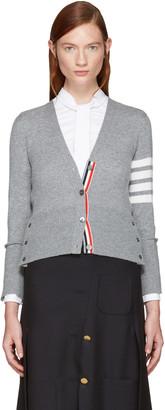 Thom Browne Grey Classic Short V-Neck Cardigan $1,690 thestylecure.com