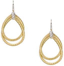 Marco Bicego Diamond Cairo 18k Serpentine-Drop Earrings
