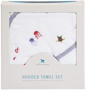 Little Unicorn Baby's Two-Piece Cotton Hooded Towel Set