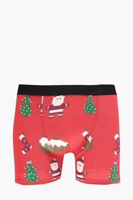 boohoo Christmas Emoji Boxers