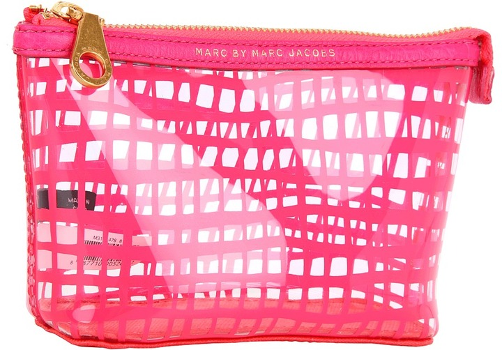 Marc by Marc Jacobs Checkmate Landscape Zip Pouch (Diva Pink) - Bags and Luggage