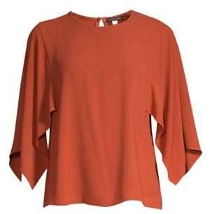 Eileen Fisher Cape Sleeve Silk Top