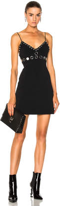 David Koma Circle Embellished Mini Dress