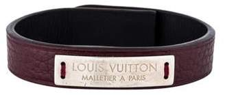 Louis Vuitton Leather Wrap Bracelet red Leather Wrap Bracelet