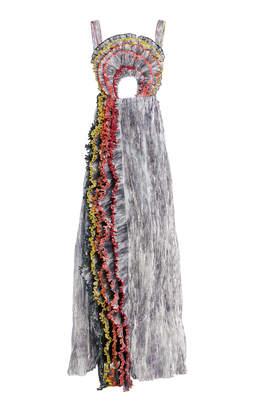 Waterfall Ruffle Gown