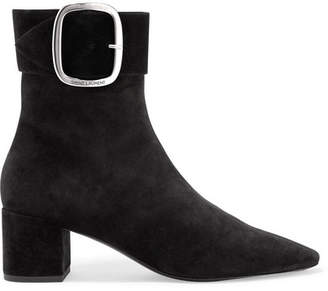 Saint Laurent Joplin Suede Ankle Boots - Black