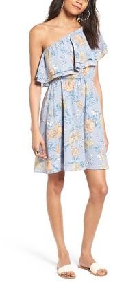 Women's Lush Ruffle One-Shoulder Dress $49 thestylecure.com