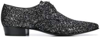 Saint Laurent glitter Derby shoes