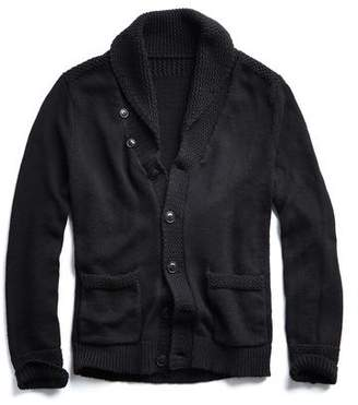 Todd Snyder Cotton Shawl Cardigan in Black