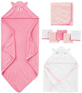 Carter's Simple Joys by Baby Girls' 8-Piece Towel and Washcloth Set