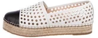 Loeffler Randall Perforated Cap-Toe Espadrilles
