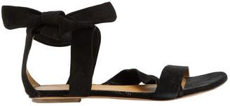 BA&SH Bash Black Suede Sandals