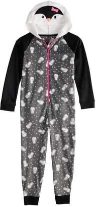 So Girls 4-14 & Plus Size SO Fleece Hooded Footless Pajamas