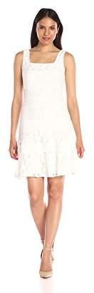 Julian Taylor Women's Sleeveless Pintuck and Lace Dress