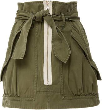 Marissa Webb Hannah Herringbone utility cotton mini skirt