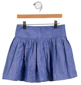 Milly Minis Girls' Woven A-Line Skirt