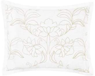 Laura Ashley Claire Embroidered Cotton Throw Pillow