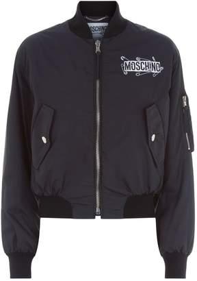 Moschino Safety Pin Teddy Bomber Jacket
