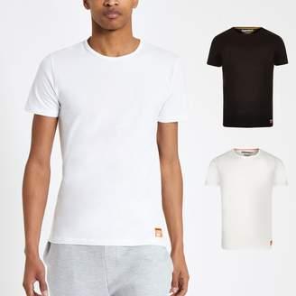 Superdry Mens White slim fit T-shirt 2 pack