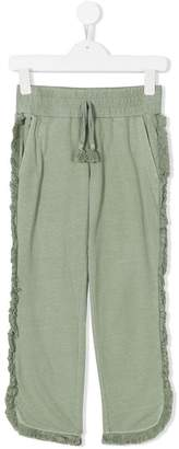 Stella McCartney frayed straight trousers
