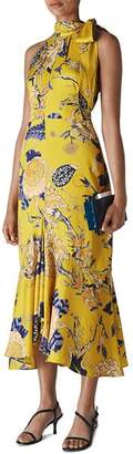 Whistles Peria Exotic Floral High-Neck Dress