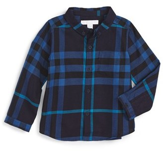 Infant Boy's Burberry Mini Fred Shirt $120 thestylecure.com