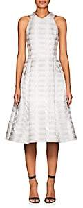 Mary Katrantzou WOMEN'S TRINKET FIT & FLARE DRESS - SILVER SIZE 10 UK 00505051329112
