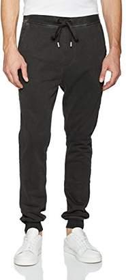 True Religion Men's Raw Edge Slim Leg Sweatpant